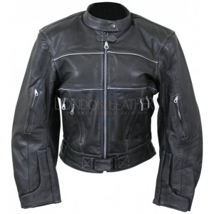 Ladies Motocross Motorcycle Leather Jacket